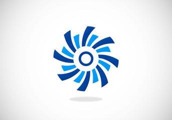 circle movement swirl abstract vector logo