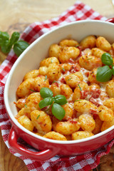 gnocchi with tomato sauce and parmesan cheese