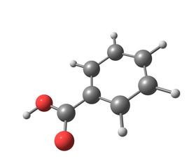 Benzoic acid molecule isolated on white