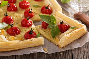 Tomato and mozzarella tart