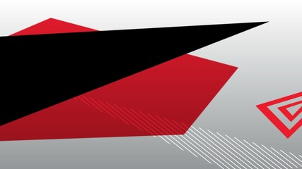 abstract geometric red and black motion graphic