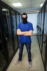 Masked cyber hacker