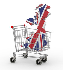 UK 3d map into shopping cart