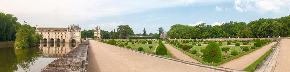 View of the castle and gardens