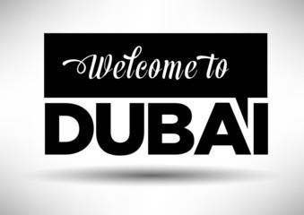 City of Dubai Typographic Design