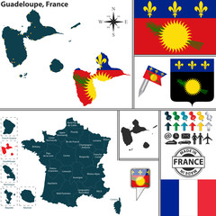 Map of Guadeloupe, France
