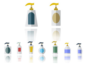 Dispenser Pump Plastic Bottle Set