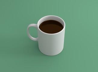Tasse Kaffee weiß