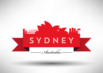 City of Sydney Typographic Skyline Design