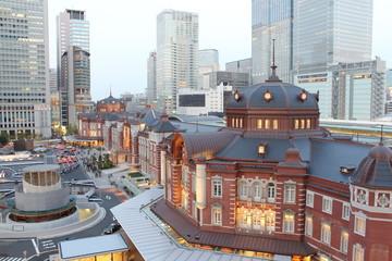 東京駅 夕景