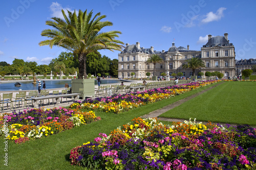 Foto op Canvas Tuin Luxembourg Palace in Jardin du Luxembourg in Paris