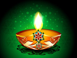 Diwali Background with artistic deepak