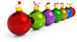 colored christmas baubles