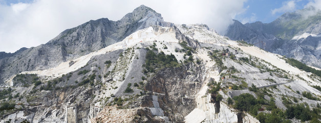 Apuan Alps. Carraran marble quarry