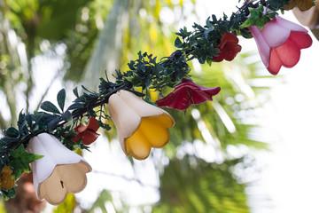hanging counterfeit flower