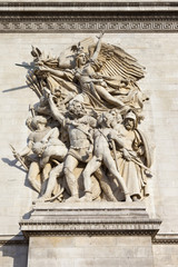 Sculptural Detail on the Arc de Triomphe in Paris