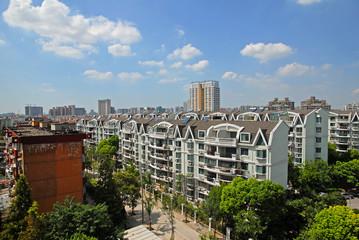 Shanghai, new model quarter in Putuo district.