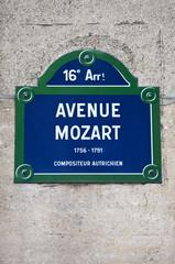 Avenue Mozart in Paris