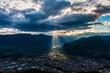 canvas print picture - Sonnenstrahl Bozen