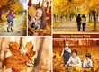 autumn time collage  landscape