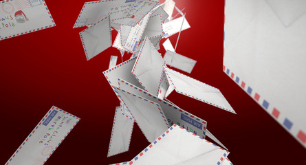 Falling Letters To Santa