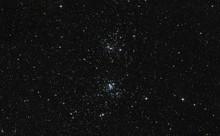 Podwójna gromada gwiazd w gwiazdozbiorze Perseusza