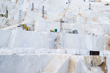 Marble quarry site in Carrara, Italy