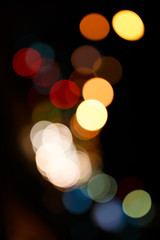 Night Light blurred background, Defocused  abstract background.