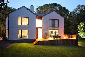 Modern luxury house and garden