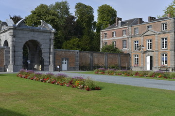La Cour d'Honneur du domaine du château d'Enghien