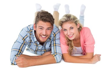 Attractive young couple smiling at camera