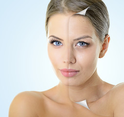Aging and youth concept, beauty treatment, portrait of beautiful