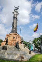 Independence monument in Guayaquil, Ecuador