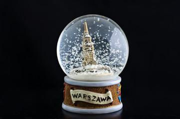 Warsaw snow globe