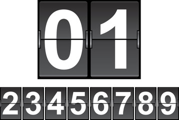 set of flip numbers  vector illustratio