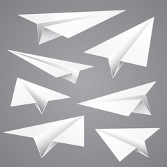 Paper planes, vector illustration