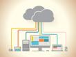 cloud devices flat design illustration
