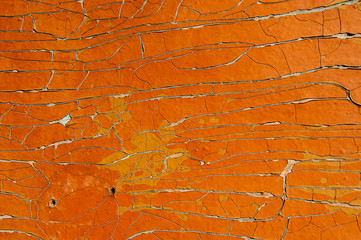 Grunge wall texture with cracked paint