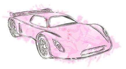 Sports car sketch.Own design.
