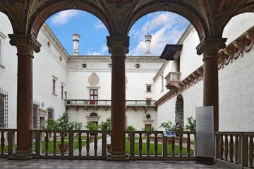 Castello buonconsiglio Trento Italia giardino interno
