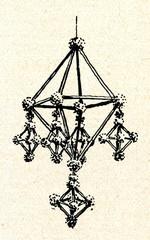 Puzurs - pendant latvian folk decoration from straw