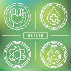 Vector outline logos - healthcare and medicine