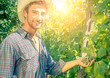 Man in a vineyard