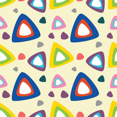 Seamless colorful triangle pattern