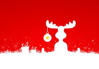Rentier Weihnachten Schnee