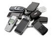 Leinwanddruck Bild - vecchi telefonini