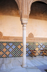 The Alhambra Palace in Granada, Andalusia, Spain