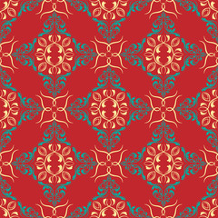 damask pattern. vector seamless wallpaper. flower background