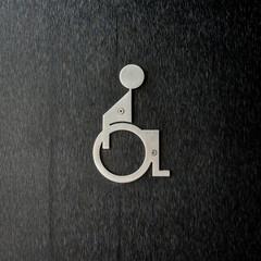 Metal Disabled Sign