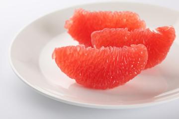Slices of fresh grapefruit